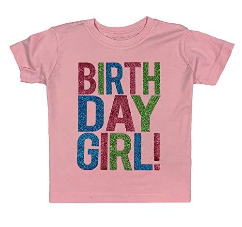 SoRock Birthday Girl Toddler Kids T-Shirt Pink 3T