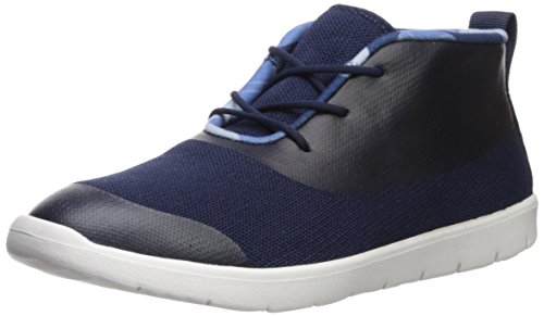 UGG Boys K Seaway Chukka Camo Lined Sneaker, Navy, 3 M US Little Kid