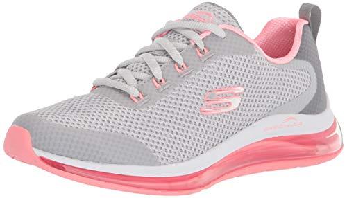 Skechers Women's Skech-air Element 2.0-Looking Sneaker, Grey/Hot Pink, Numeric_5_Point_5