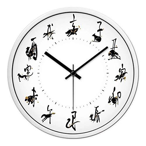 YLCJ eenvoudige wandklok decoratief metaal voor China persoonlijkheid prijs digitale wekker niet graverend; stil haakje B 12
