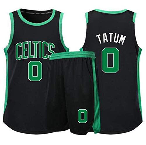 YCJL Camiseta de Baloncesto para niños NBA Boston Celtics 0# Camisetas de Tatum Adultos Niños Unisex Competición Uniforme Deportivo, Conjunto de Ropa Ropa Deportiva,A,3XS:121~135cm
