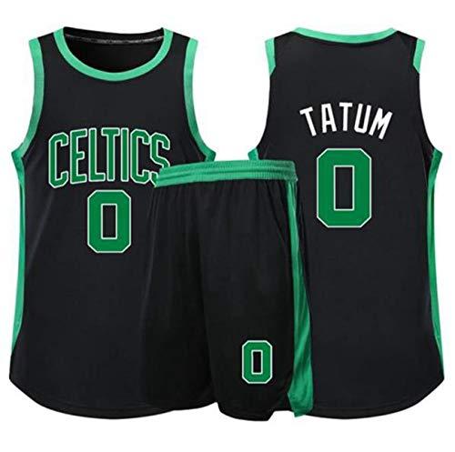 YCJL Camiseta de Baloncesto para niños NBA Boston Celtics 0# Camisetas de Tatum Adultos Niños Unisex Competición Uniforme Deportivo, Conjunto de Ropa Ropa Deportiva,A,S:150~154cm