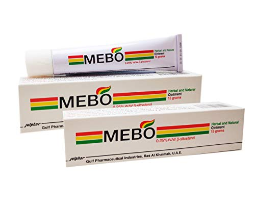 MEBO Burn Fast Relief Pain Cream Skin Healing Ointment Wound & Scar No Marks Care Fast First Aid Health Beauty Care (2 Tubes = 30 grams)