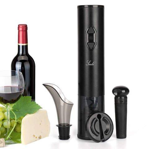 Suuki Sacacorchos Eléctrico, Sacacorchos para Navidad, Abridor de Botellas Electrico 4 en 1 con Cortapapeles/Vertedor de Vino/Tapón de Vino y...