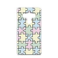 FFANY HTC J butterfly (HTV31) 用 ハードケース スマホケース パズル柄・パステル おもしろ ゲーム パロディ エイチティーシー ジェー バタフライ au 楽天モバイル ワイモバイル スマホカバー 携帯ケース 携帯カバー puzzle_aao_h190733