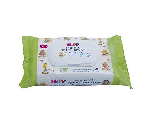 HiPP babyzacht, vochtig toiletpapier voor kinderen, 6 stuks (6 x 50 stuks)