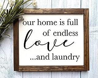 by Unbranded Pancarte en bois avec inscription « Laundry Farmhouse », décoration de buanderie, buanderie, buanderie infini...