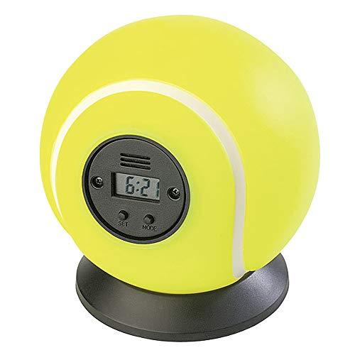 Monsterzeug Wurfwecker mit Tennis-Ball Motiv, Digitaler Wecker zum Werfen, Kinder-Wecker für Tennisspieler, Robuster Wecker als Punching-Ball