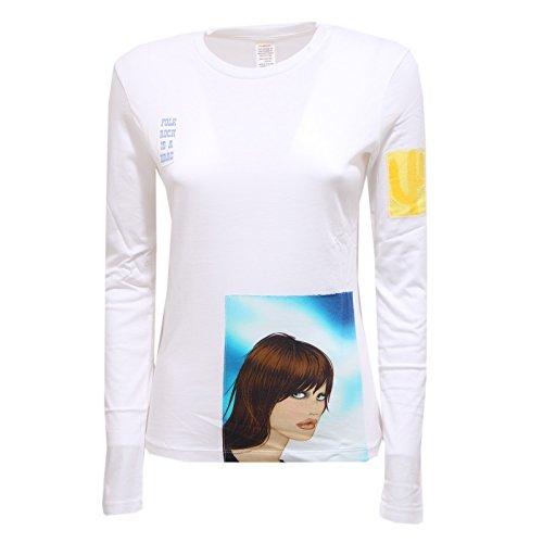 Custo 2515R Maglia Donna Barcelona Long Reflect Cotone t-Shirt Long Sleeve Woman...