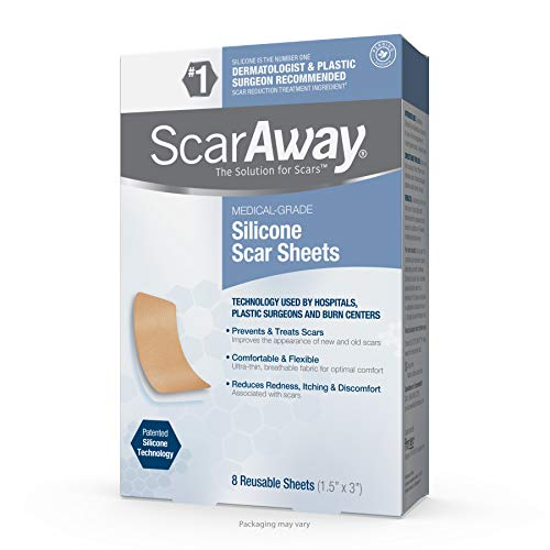ScarAway Advanced Skincare Silicone Scar Sheets for Face, Body, Surgical, Burn, Hypertrophic Scars, Keloids and Acne Scar Treatment