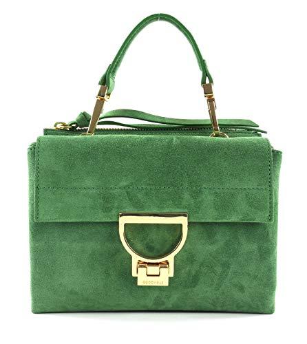 Coccinelle Arlettis Suede Top Handle Bag Leaf