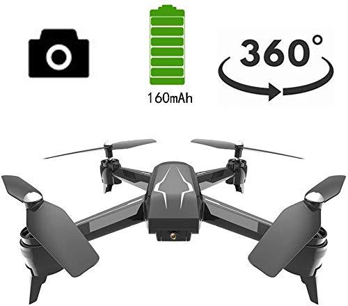 Drones Live Video Caméra 90 °, GPS Wifi 1080P HD Caméra vidéo en direct GPS gyroscopique à 4 axes, Distance contrôle longue portée à 360 °, avec batterie intégrée, Molongue durée sans tête, Noir