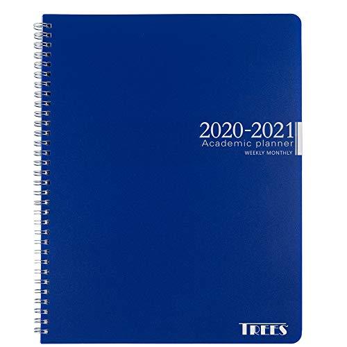 """Monatsplaner 2020-2021 9""""×11"""" blau"""