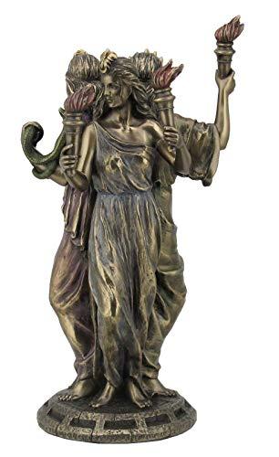 Veronese 708-6293 Griechische Göttin der Magie Hekate Figur bronziert Hexe Antike