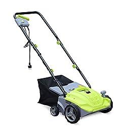 VOLTR – Scarificateur électrique Gazon 1500W – Outil 2en1 aérateur et démousseur pelouse. 2 Rouleaux : Couteaux et…