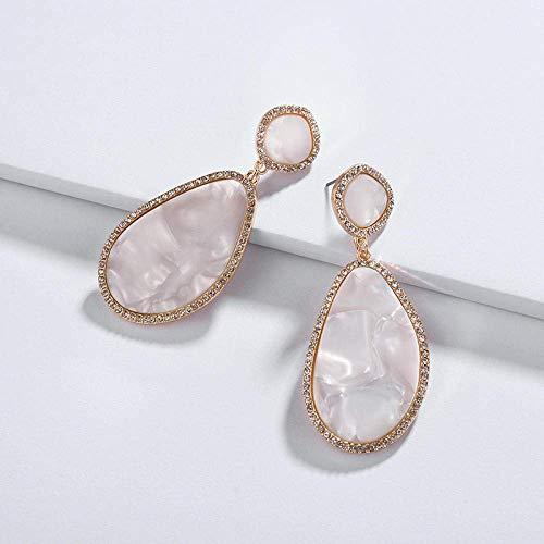 WMYATING Los pendientes son de moda y hermosos, el conjunto de joyería de ShErin Fashion Jewelry con cristales de imitación de forma irregular de resina fluorita para mujer.