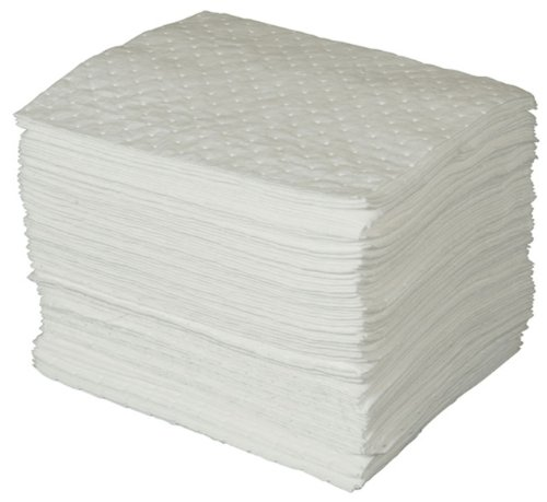 """Brady SPC BPO100 15"""" x 17"""" Heavy Weight Economical Oil Only Absorbent Pads - 100 ct"""