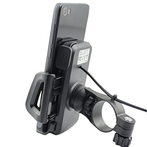 ILM 2 in 1 Motorcycle Cell Phone Mount Holder with USB Charger Waterproof Accessories