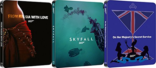 James Bond 007 Steelbook Collection - From Russia With Love/Skyfall/On Her Majesty's Secret Service 3-Blu-ray Bundle