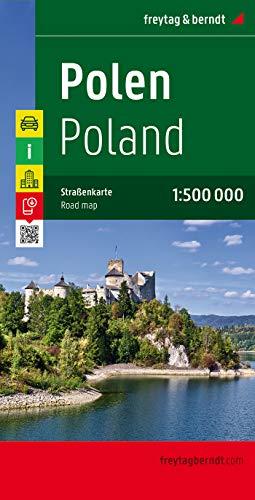 Polen, Autokarte 1:500.000: Touristische Informationen, Nationalparks, Ortsregister mit Postleitzahlen (freytag & berndt...