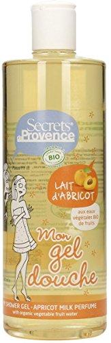 Gel Douche BIO Lait d'Abricot Secrets de Provence 500 Ml