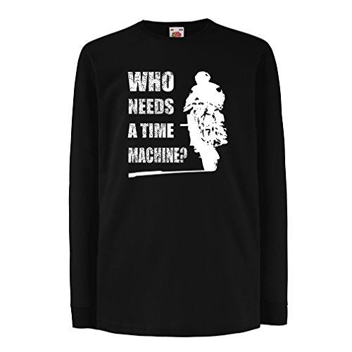 lepni.me Bambini t-Shirt con Maniche Lunghe Abbigliamento Moto (12-13 Years Nero Multicolore)