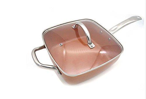 Poêle en cuivre carré avec accessoires multifonctions