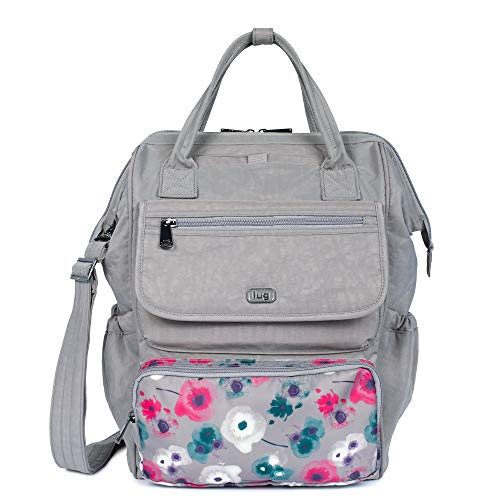 Lug Women's Via Tote Backpack, Pearl Watercolor Floral One Size