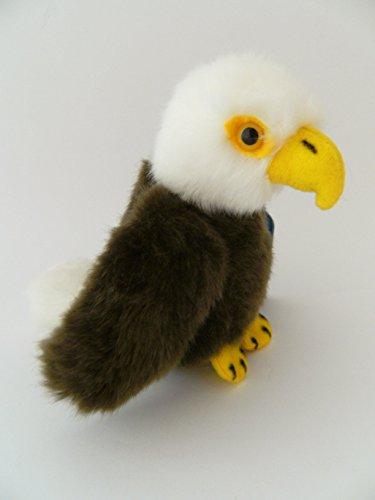 Unbekannt Stofftier Adler 11 cm, Kuscheltier Plüschtier Vogel Greifvogel Weißkopfseeadler