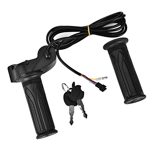 Fockety Durable con función de Bloqueo eléctrico, empuñadura de Bicicleta eléctrica, fácil de Instalar y Usar, manillares de Bicicleta eléctrica, Pantalla LED 1 par de casa para Bicicletas