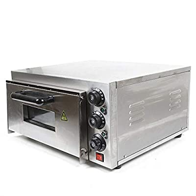 Gdrasuya10 2000W Electric Pizza Oven,Single Layer Independent Temperature Control Stainless Steel Bake Oven