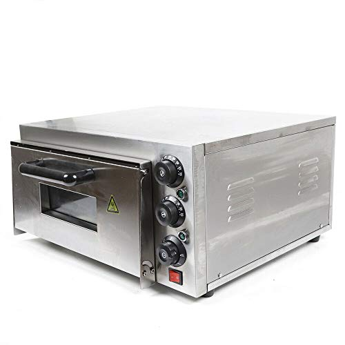 Pizza Oven, 14'' 2200W Commercial Electric Pizza Oven 110V Countertop Electric Pizza and Snack Oven with Separately Controlled Thermostats, Pizza Maker for Pretzels, Baked Roast, Yakitori