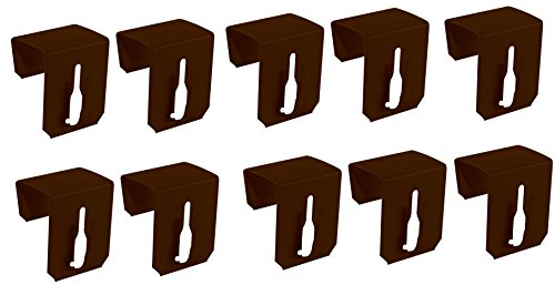 Lot de 10 crochets de fenêtre à clip pour décoration de fenêtre Marron 20-23 mm