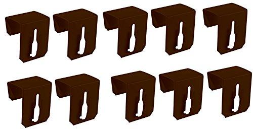 Lot de 10 crochets de fenêtre à clip pour décoration de fenêtre Marron 17-20 mm