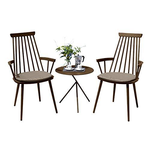 Oseasons Royal Aluminium 2 Seater Thee voor Twee Set in Koffie met Khaki Kussens & Explorer Tafel