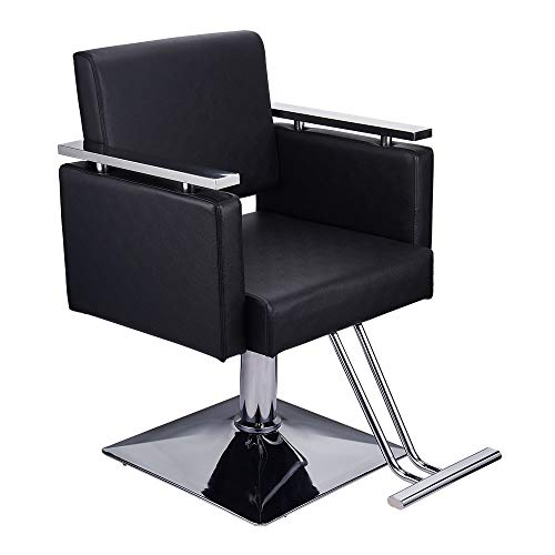Cheapest Prices! Barber Chair Heavy Duty Hydraulic Barber Chairs Square Base Boutique Salon Chair fo...