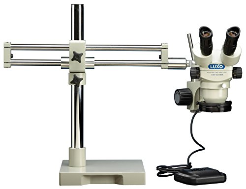 LX Microscopes by UNITRON 23728RB System 273RB-DMLED-HO Binocular Stereo-Zoom Microscope with Roller Bearing Stand, Dimmable LED-HO Ring Light, 23 mm