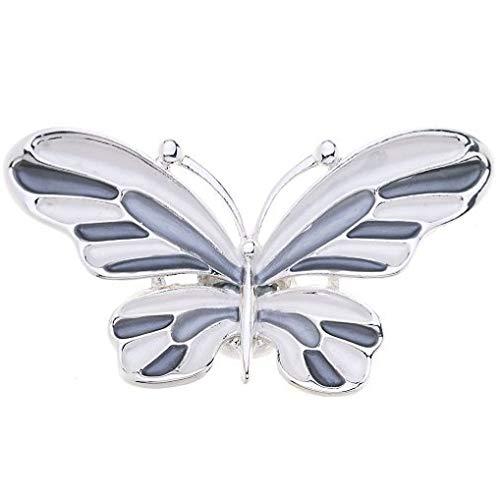 Treend24 Damen Magnet Brosche Schmetterling Grau Schal Clip Bekleidung Magnetbrosche Poncho Taschen Stifel Textilschmuck Eule Herz stern