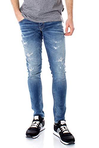 Antony Morato Jeans Tapered OZZY (Inch) Vaqueros, Azul (BLU Denim 7010), 31W / 32L para Hombre