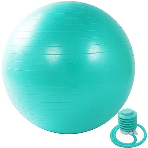 KIKTS Gymnastikball 55Cm / 65Cm / 75Cm, Yoga-Ball Fitness-Ball Mit Handpumpe Home Gym-Anwendungen Im Büro, Für Schwangerschaft, Geburt Und Weight Loss Exercise,Grün,65cm