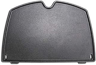 Grisun 6558 Cast Iron Griddle for Weber Q 1000 and Q 100 Series Grill, Matte Cast Iron Cooking Griddle Part Grill Accessories for Weber Q1200 Q1000 Q100 Q120 Gas Grills