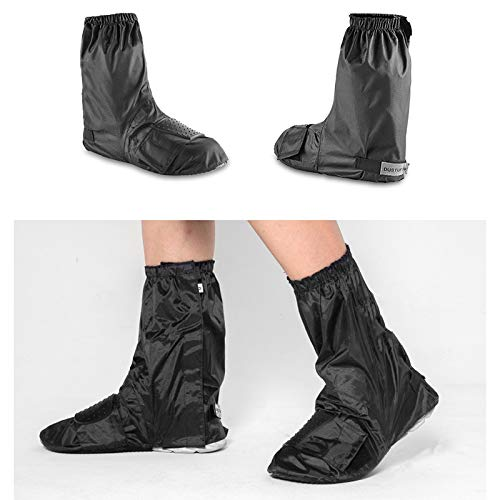 JERPOZ Motorrad Regen Regen Schuh Gangschaltens Schuhabsatz Ausschnittentwurf wasserdichte Schutzwasserbeständige Gleitsch Regenstiefel (Size : M)