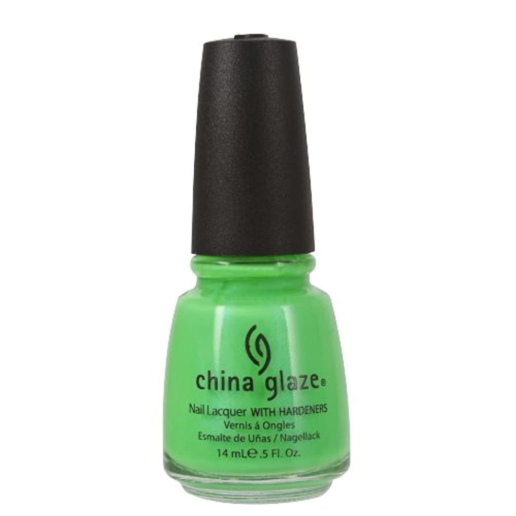 飲み込むウェーハ祝福(3 Pack) CHINA GLAZE Nail Lacquer with Nail Hardner - In The Lime Light Neon (並行輸入品)
