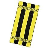 Borussia Dortmund BVB - Asciugamano da Bagno con Strisce in Cotone, 180 x 70 x 1 cm, Colore: Nero/Giallo