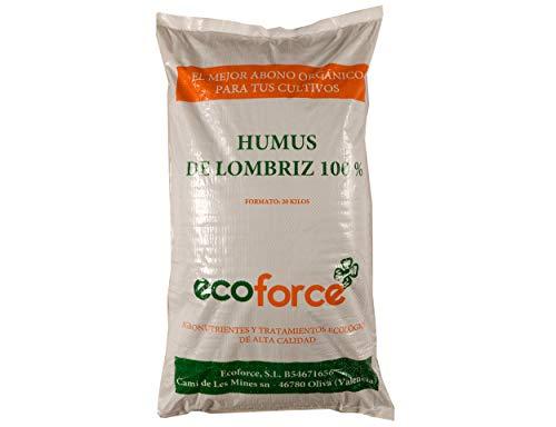 CULTIVERS Humus de Lombriz Ecológico 20 kg (40 L). Abono pa