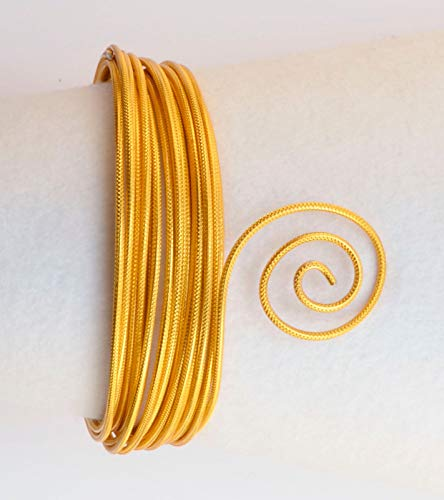Creacraft Aluminium Schmuckdraht Gold, 2 mm Modellieren Basteln Floristik UVM.