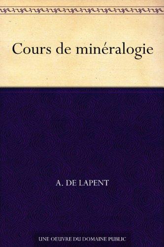 Couverture du livre Cours de minéralogie