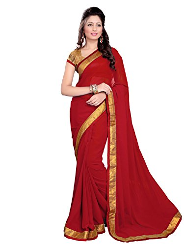 MirchiFashion MirchiFashion Bollywood indischer Frauen Sari mit Ungesteckt Oberteil/Top Party Indians Saree Kleidung