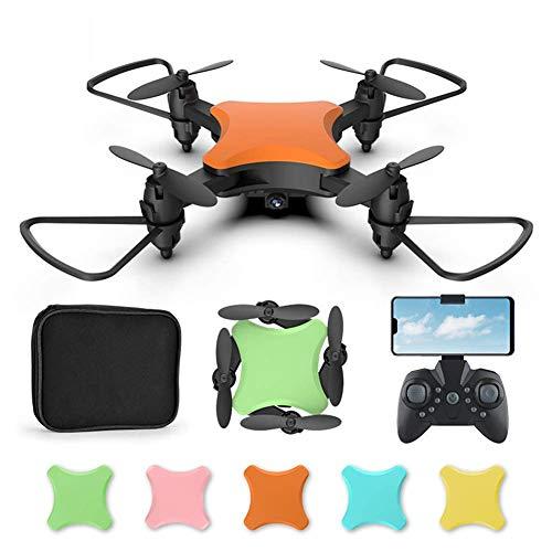 SXXYTCWL Mini Nano RC Drone Plegable for los niños Regalo Portátil Pocket Quadcopter con una Llave Despegue / Aterrizaje, fácil de Volar for Principiantes Chasis de 5 Colores Naranja 4k jianyou