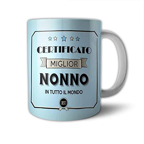 Babloo Tazza Mug Idea Regalo Festa dei Nonni Certificato del Migliore Grafica Nonno